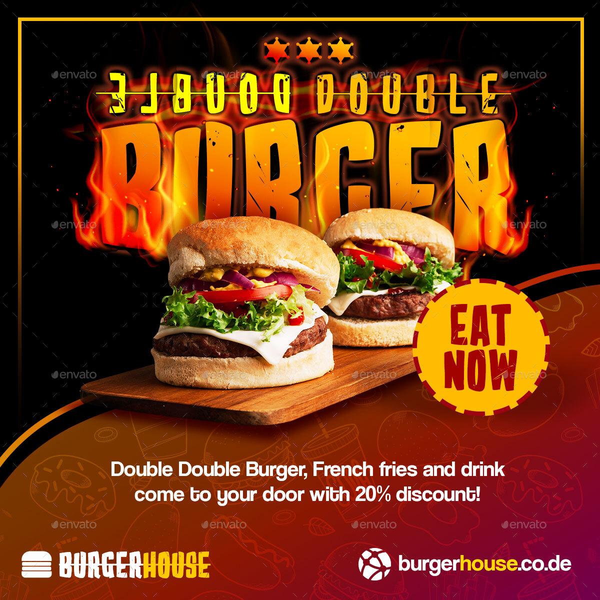 Burger Banner By TheThirdEyes