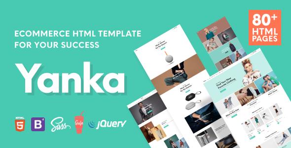 Yanka - Retail Ecommerce HTML Template