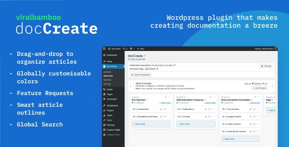 DocCreate - Wordpress documentation creator | WP Knowledge base plugin