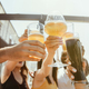 Young group of friends drinking beer and celebrating together - PhotoDune Item for Sale