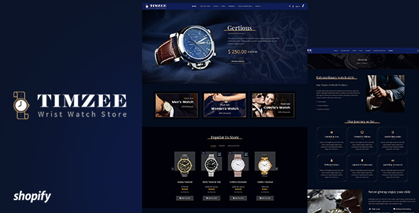 Time zee | Shopify Watch Store, Dark Jewelry Theme