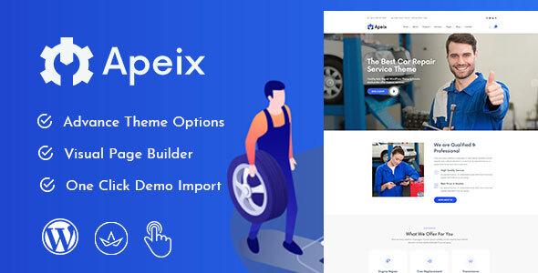 Apeix - Car Repair Service & Auto Mechanic WordPress Theme