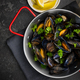 Seafood Dish, Mussels with Parsley,Lemon and White Wine, Top Vie - PhotoDune Item for Sale