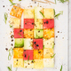 Creative and Healthy Picnic or Party Food, Square Fruit Pieces o - PhotoDune Item for Sale