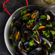 Prepared Mussels in Pan with Parsley, Top View - PhotoDune Item for Sale
