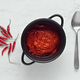 tomato sauce and chiles on marble - PhotoDune Item for Sale