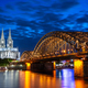 Night in Cologne at the river Rhine - PhotoDune Item for Sale
