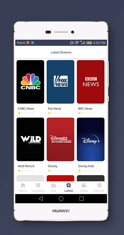 Streaming4u - Live Tv and Streaming app with Admin panel