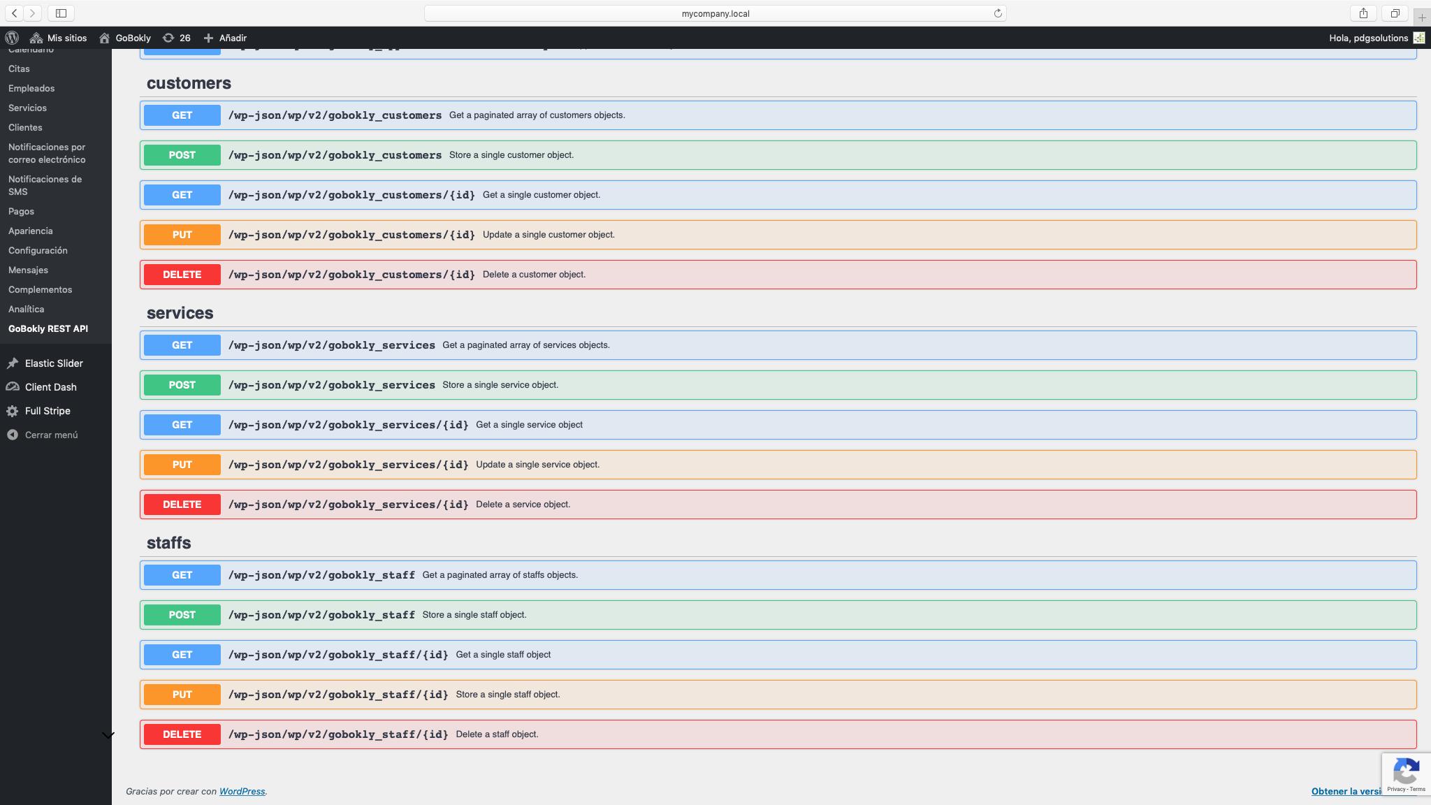GoBokly REST API
