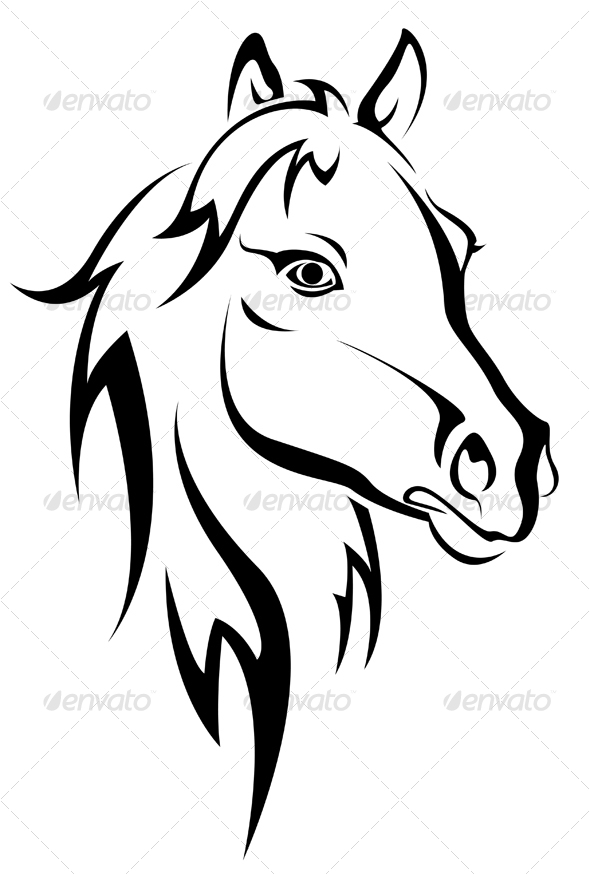 Black horse silhouette - Animals Characters