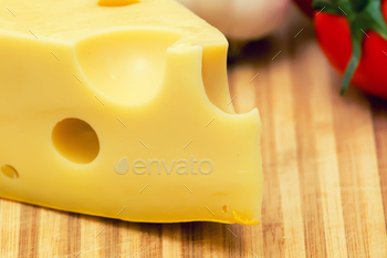Close-up cheese slice