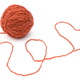 Wool ball for needlework on white background - PhotoDune Item for Sale