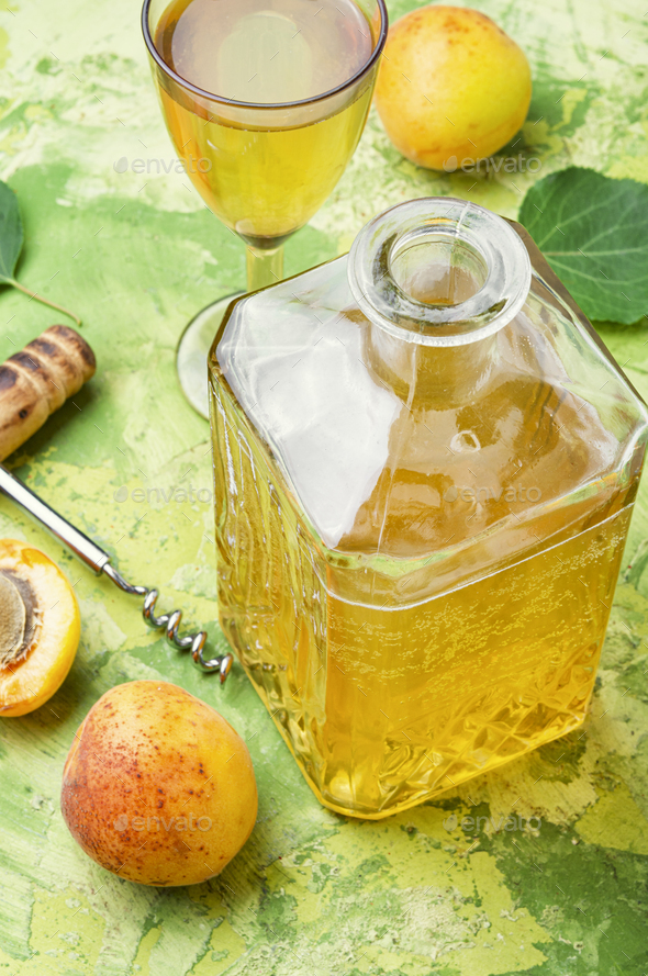 Sweet apricot wine - Stock Photo - Images