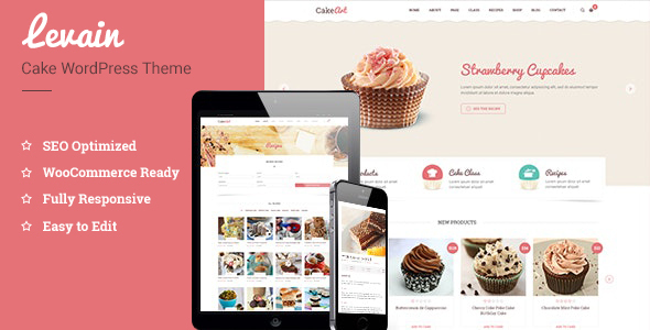 Levain | Cake WordPress Theme