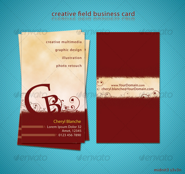 Creative Field Business Card - Creative Business Cards