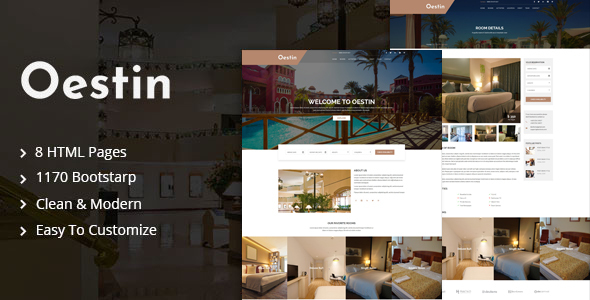 Oestin - Hotel & Resort HTML Template
