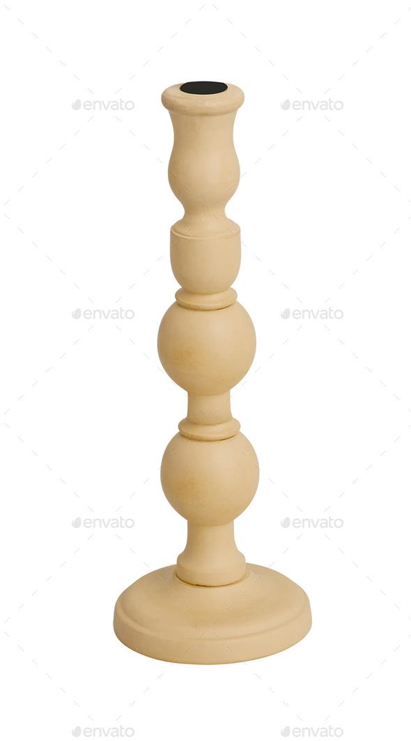 modern candleholder isolated on white background - Stock Photo - Images