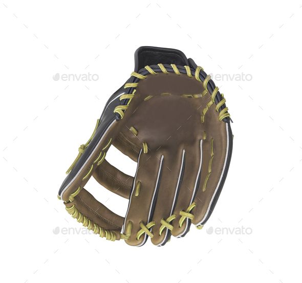 leather baseball glove isolated on white background - Stock Photo - Images