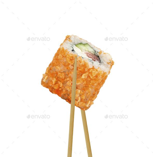 sushi isolated on white background - Stock Photo - Images