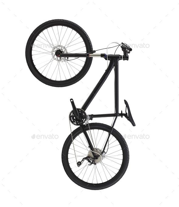 bike isolated on white background - Stock Photo - Images