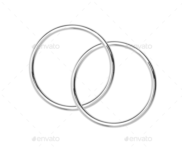 Metal hoops isolated on white - Stock Photo - Images