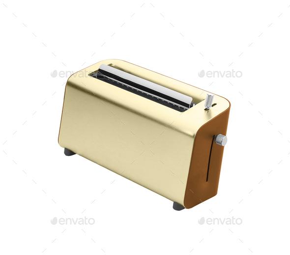 Toaster isolated on white background - Stock Photo - Images