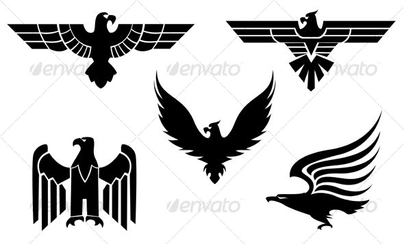 Eagle symbols 3 - Tattoos Vectors