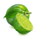 Whole and halved lime isolated on white - PhotoDune Item for Sale