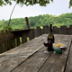 Drinking a glass of wine on the terrace  - PhotoDune Item for Sale
