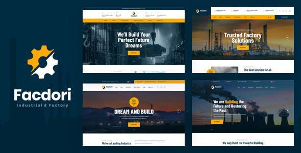 Facdori - Factory & Industrial Business HTML Template