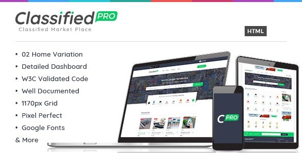 Classified Pro - Listing HTML Template