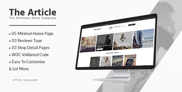 Nice The Article - Blog and News HTML Template