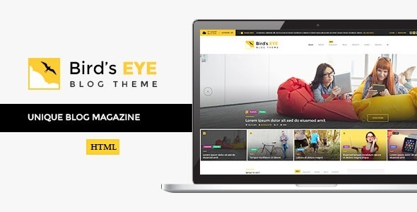 Birds Eye - Blog and News HTML Template by ExproStudio