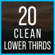 20 Clean Lower Thirds - VideoHive Item for Sale