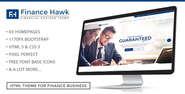 Finance Hawk – Business Consultancy Template by ExproStudio