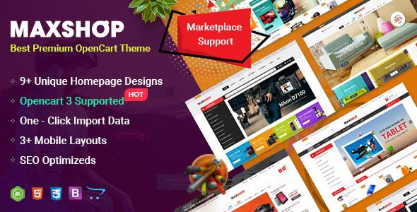 MaxShop - Fastest & Responsive Multipurpose OpenCart 3 & 2 3 Theme