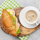 Coffee and croissant sandwich - PhotoDune Item for Sale