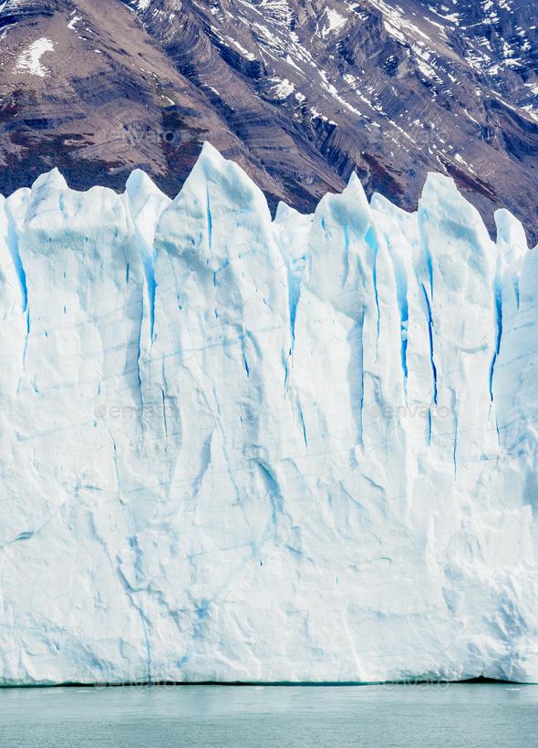 Perito Moreno Glacier in Patagonia, Argentina - Stock Photo - Images