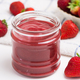 Fresh homemade strawberry jam - PhotoDune Item for Sale