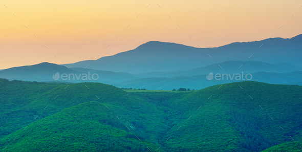 Mountain silhoutte - Stock Photo - Images