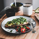 Healthy breakfast with avocado toast and espresso coffee on board - PhotoDune Item for Sale