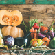 Assortment of various Autumn vegetables for healthy cooking on cupboard - PhotoDune Item for Sale
