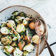 Healthy summer lunch with potato salad and white wine - PhotoDune Item for Sale