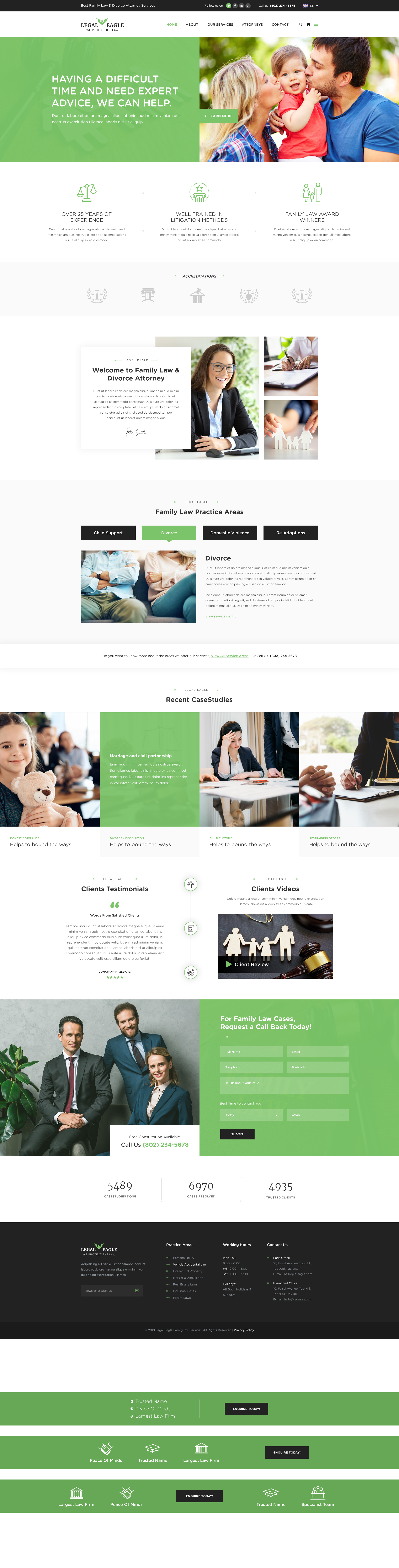 Legal Eagle - Attorney & Law Agency PSD Template