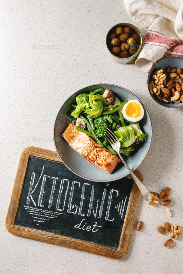 Ketogenic diet dinner - Stock Photo - Images