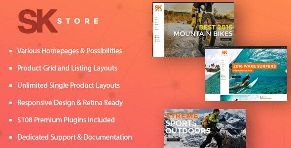 Awesome SK Store -  Responsive WP theme for Sport and Athletes