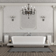 Luxury white and gray home bathroom with elegant bathtub - 3d rendering - PhotoDune Item for Sale