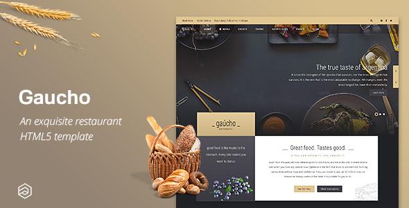 Gaucho - Cafe Bistro Responsive Restaurant HTML Template