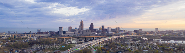 Highway Through Cleveland Ohio Cuyahoga County Seat North America - Stock Photo - Images