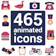465 animated icons pack - VideoHive Item for Sale